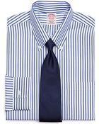 Brooks Brothers Supima Cotton Noniron Regular Fit Bold Stripe Dress Shirt - Lyst