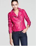 Michael Kors Kors Asymmetric Color Moto Jacket - Lyst