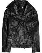 Acne Studios Scuba Star Leather Jacket - Lyst