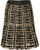 Etro Black Sand Crocheted Patched Skirt - Lyst