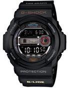 G-Shock Digital Tidegraph Black Resin Strap Watch  - Lyst