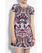 McQ by Alexander McQueen Griffin Jacquard Flirty Knit Dress - Lyst