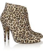 Bionda Castana Sara Leopardprint Suede Ankle Boots - Lyst