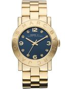 Marc By Marc Jacobs Womens Gold Ion Plated Stainless Steel Bracelet 36mm - Lyst
