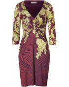 Matthew Williamson Berryjade Printed Draped Jersey Dress - Lyst