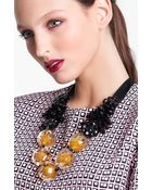 Marni Beaded Ribbon Necklace - Lyst