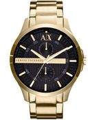 Armani Exchange Men'S Yellow Gold Ion Plted Stinless Steel Brcelet 46Mm X2122 - Lyst