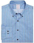 Brooks Brothers Non-Iron Regular Fit Split Ground Stripe Sport Shirt - Lyst