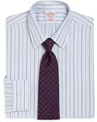 Brooks Brothers Supima Cotton Noniron Traditional Fit Stripe Dress Shirt - Lyst
