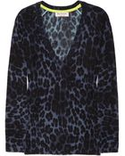 Juicy Couture Leopardprint Wool and Cashmereblend Sweater - Lyst
