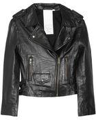 Oak Leather Biker Jacket - Lyst