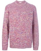 Folk Flecked Knit Sweater - Lyst