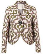 Marc Jacobs Metallic Wool Blend Jacquard Jacket - Lyst
