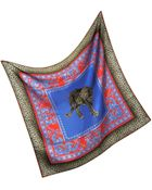 Versace Ornamental Animal Print Silk Square Scarf - Lyst