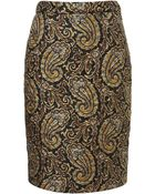 Topshop Quilted Silk Paisley Skirt By Jw Anderson For Topshop - Lyst