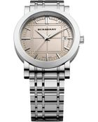 Burberry Swiss Rose Colored Dial Bracelet  - Lyst