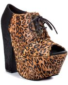 Michael Antonio Studio Medford Leopard Leather - Lyst