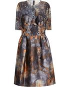 Mulberry Tie Dye Satin and Lace Dress - Lyst