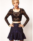 ASOS Collection Asos 90s Crop Top in Lace - Lyst