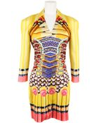 Mary Katrantzou Dress in Silk with Jewels and Pencil Print - Lyst