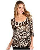Just Cavalli Leopard Print Scoop Top - Lyst