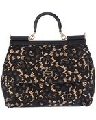 Dolce & Gabbana Floral Pattern Tote - Lyst