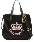 Juicy Couture Victoria Velour Tote Bag Black - Lyst