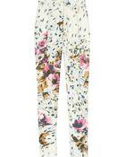 By Malene Birger Regal Floralprint Silk Pants - Lyst