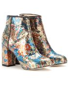 Carven Paisley Patterned Sequined Ankle Boots - Lyst