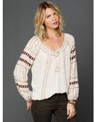Free People Beaded Wavelengths Tunic - Lyst