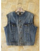 Free People Vintage Lee Denim Vest - Lyst