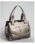 Botkier Pewter Leather Trigger Satchel - Lyst