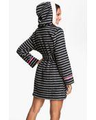 Kensie Hooded Fleece Robe - Lyst