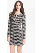 Diane von Furstenberg Carmelle Twill Shift Dress - Lyst