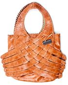 Paola Peres Complementos Canasta Handbag In Oak (Encino) - Lyst