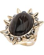 Topshop Stone Spike Surround Ring - Lyst