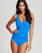 Gottex Beach Goddess Surplice One Piece Swimsuit - Lyst