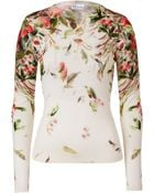 RED Valentino Cream Printed Fleece Wool Pullover - Lyst