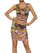 Dolce & Gabbana Printed Silk Satin Dress - Lyst