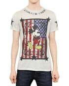 Philipp Plein Mickey American Flag Jersey T-Shirt - Lyst