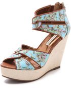 Twelfth Street Cynthia Vincent Lana Twisted Strap Sandals - Lyst