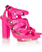 McQ by Alexander McQueen Neon Leather Multi-Strap Sandals - Lyst