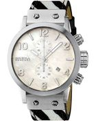 Brera Isabella Round Chronograph Calf Hair Strap Watch - Lyst