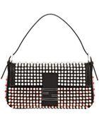 Fendi Baguette Studded Neoprene Shoulder Bag - Lyst