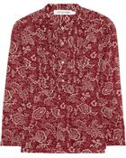 Etoile Isabel Marant Stacey Printed Cottonvoile Blouse - Lyst