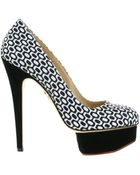 Charlotte Olympia Dolly Pumps in Bicolored Silk Satin - Lyst