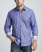 Robert Graham Checkstripe Sport Shirt - Lyst