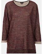 Topshop Bouclé Sweatshirt - Lyst