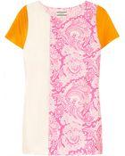 By Malene Birger Elvura Colorblock Printed Silk Top - Lyst