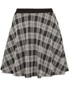 Topshop Black Check Skater Skirt - Lyst